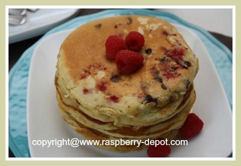 Raspberry Chocolate Pancake Recipe