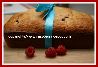 Homemade Raspberry Quick Bread Loaf Made with Fresh or Frozen Raspberries