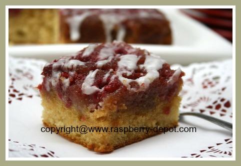 Raspberry Upside Down Cake Recipe