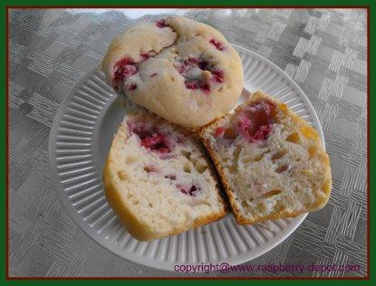 Fresh Raspberry Recipe Muffins Homeamde