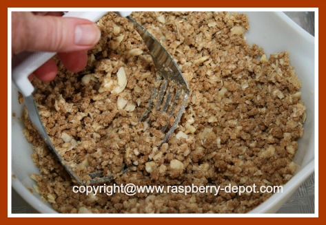 Recipe for Topping for Fruit Crumble without Oatmeal