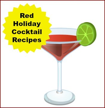 Red Holiday Cocktail Recipes for Christmas or New Year's Eve